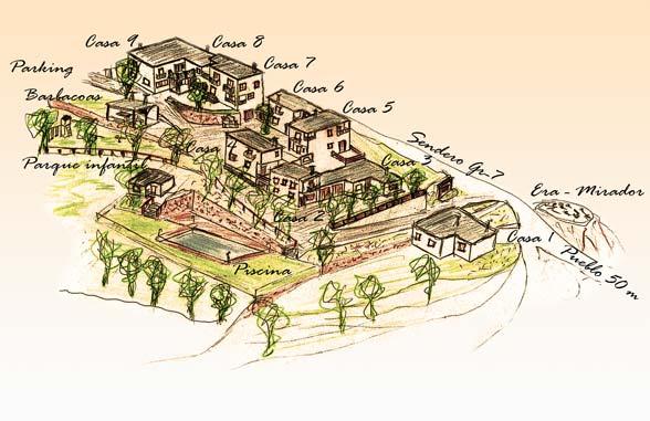 Plano de los alojamientos rurales Balcón de Válor