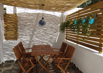 Terraza en verano. Casa Nº2